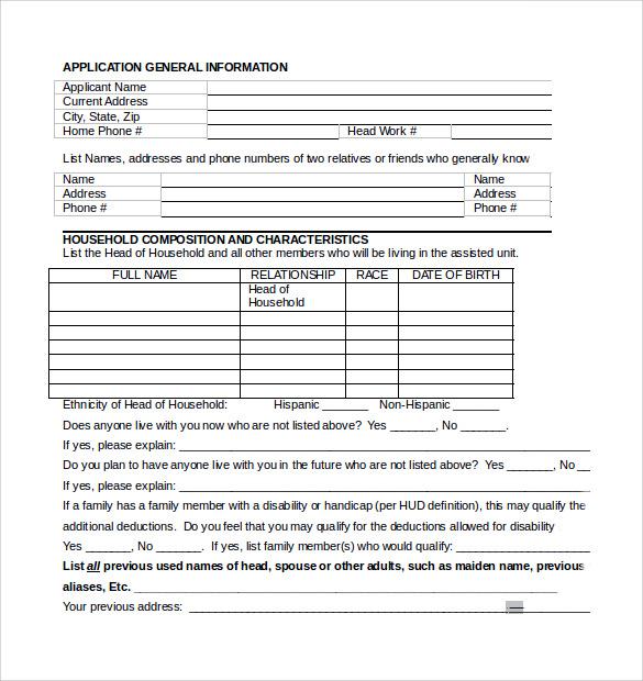 Rental Assistance Form Printable Model Lease Agreement Lease - rental assistance form