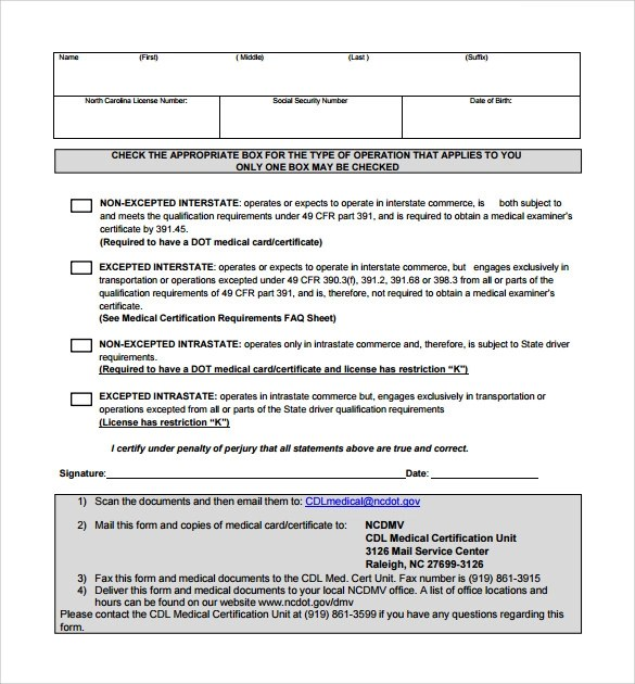15+ CDL Medical Form Templates Sample Templates