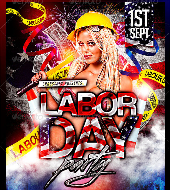 Labour Day Flyer Template kicksneakers - labour day flyer template