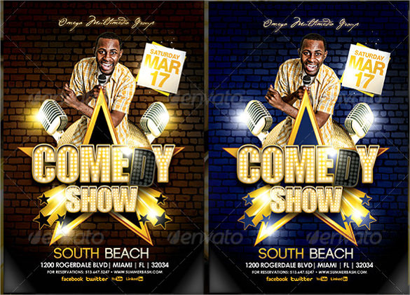 Comedy Show Flyer Template - 10+ Download in Vector EPS, PSD - comedy show flyer template