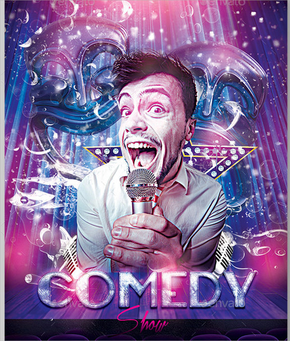 11 comedy show flyer templates