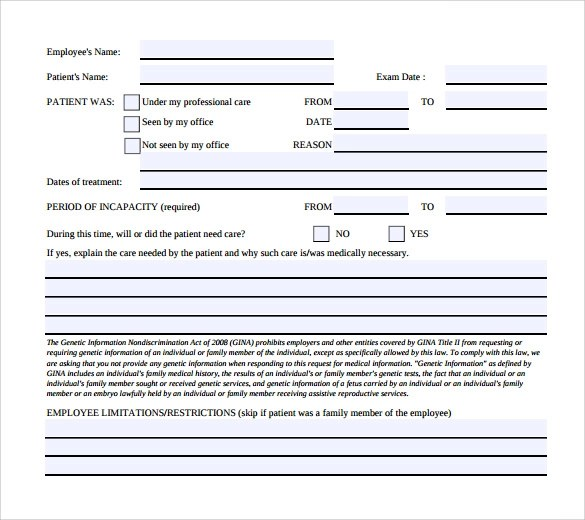 14 Medical Leave Form Templates to Download for Free Sample Templates - leave application template