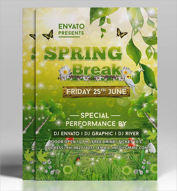 21+ Spring Flyer Templates Sample Templates - spring flyer template