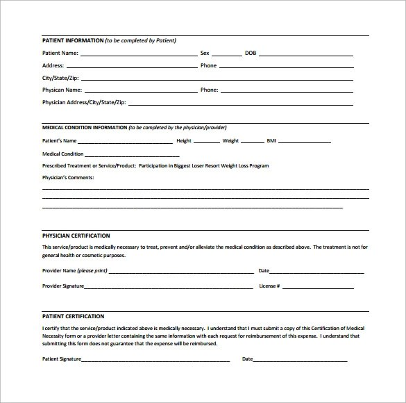 13 Letter of Medical Necessity Form Templates to Download Sample - letter of medical necessity form