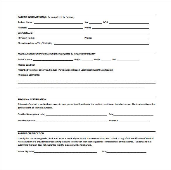 Sample Letter of Medical Necessity Form - 12+ Download Free