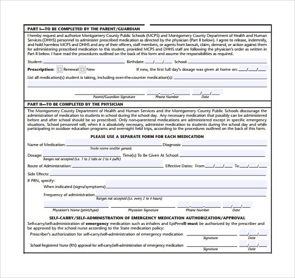 Printable Medical Form Sample Medical Authorization Form Templates