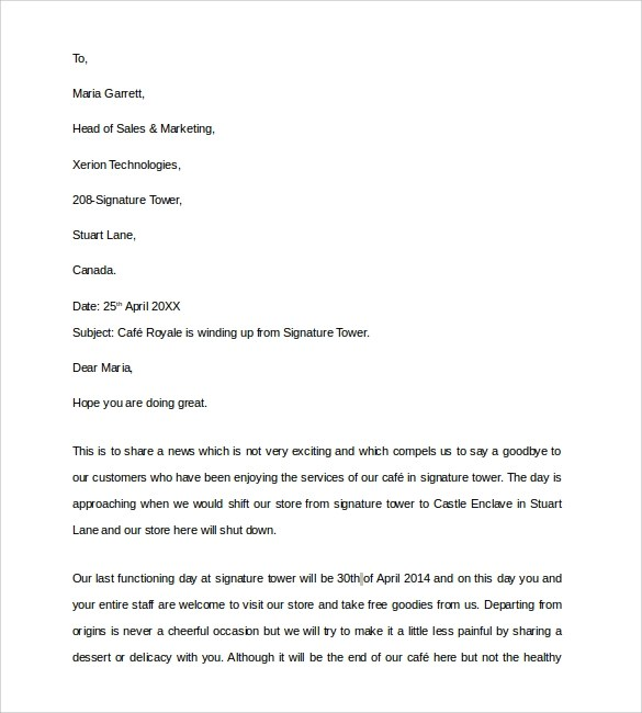 Business Letter Sample Closing – Sample Closing a Business Letter