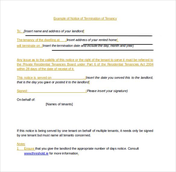 termination form sample - Apmayssconstruction