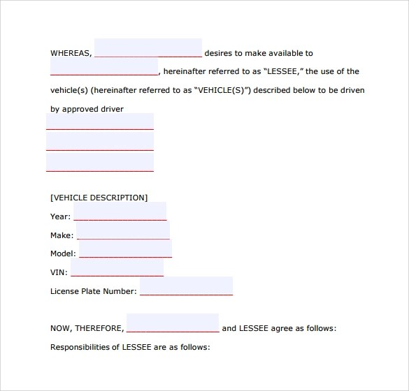 Sample Car Lease Form - 7+ Download Free Documents in PDF - lease termination form