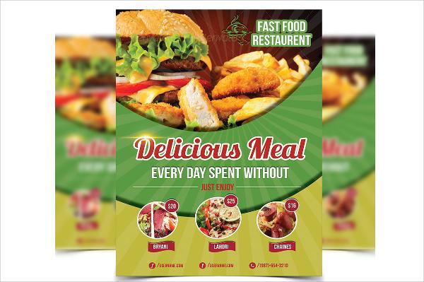 Restaurant Flyer Simple Restaurant Food Menu Flyer Template Psd