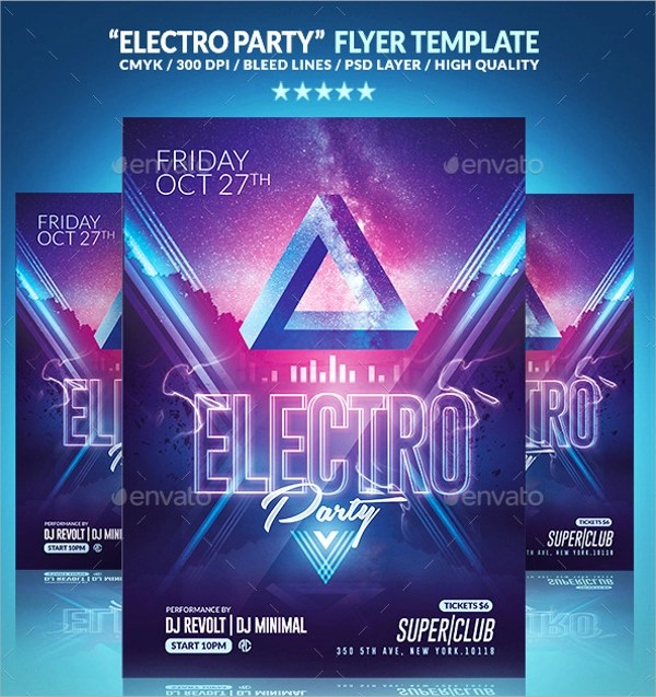 Electro Flyer Template -19+ Download In Vector EPS, PSD