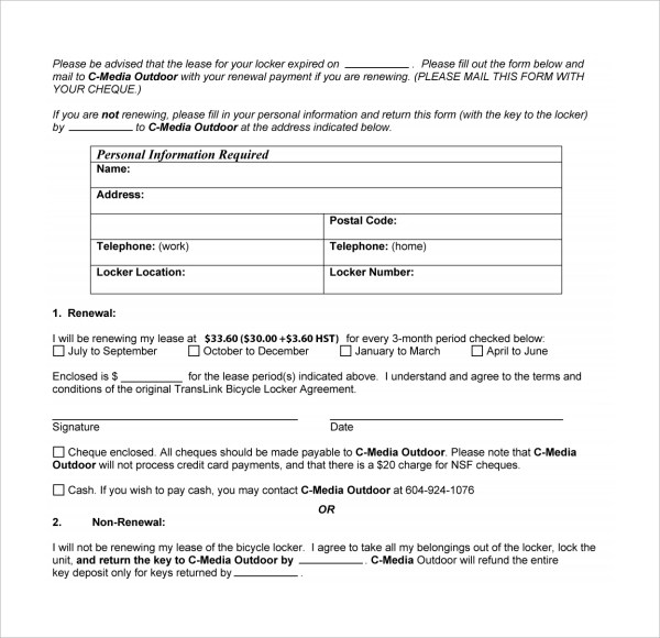 Rental Contract Template Qld Best Resumes Curiculum Vitae And - lease renewal form