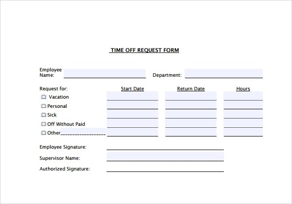 paid time off forms - Towerssconstruction