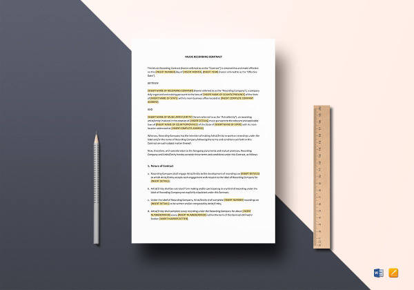 Sample Music Contract Template - 22+ Free Documents in PDF, Word
