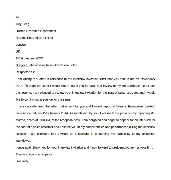 Ending Thank You Letters Best Response So Far To End Of Year – Thank You Letter for Interview