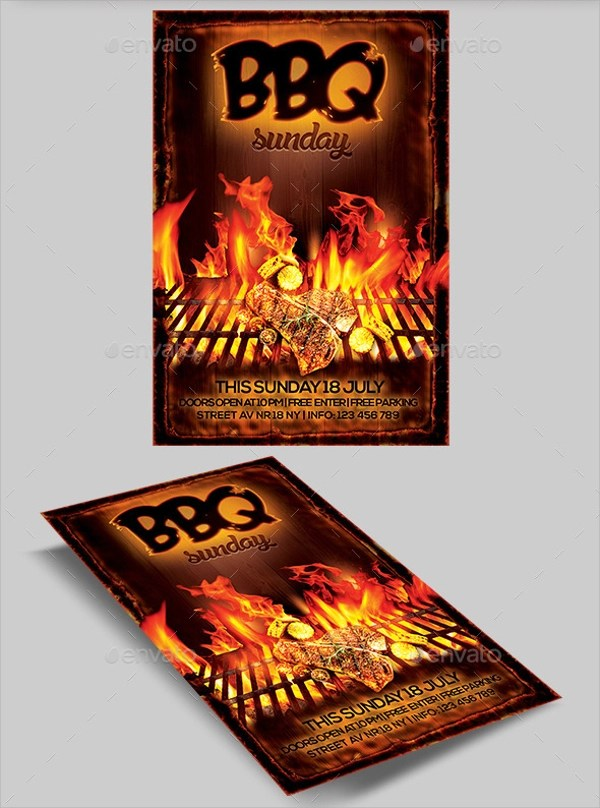 BBQ Flyer - 20+ Download In Vector EPS, PSD - bbq flyer