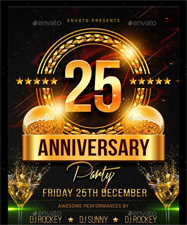 22+ Anniversary Flyers Sample Templates