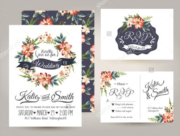 wedding leaflet template
