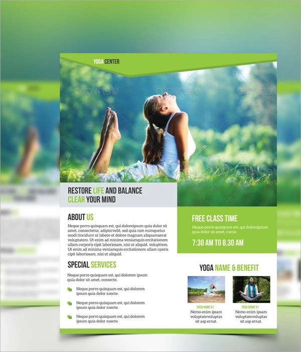 Yoga Flyer Template - 20+ Download in Vector EPS , PSD - yoga flyer