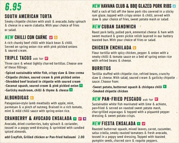 Sample Lunch Menu Template Best Menu Template Word Ideas On Doodle - menu list sample