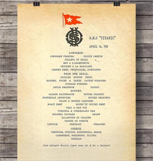 Free Restaurant Menu Templates Sample Restaurant MenusSample - sample menu template