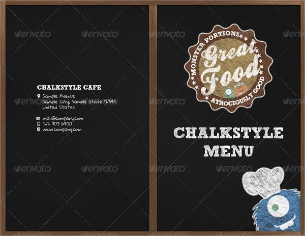 Sample Chalkboard Menu Template - 19+ Download Documents in PDF, PSD