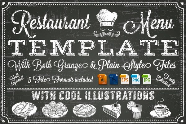 Sample Chalkboard Menu Template - 19+ Download Documents in PDF - sample chalkboard menu template