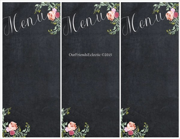 Sample Chalkboard Menu Template Free Chalk Board Menu Psd Flyer - sample chalkboard menu template