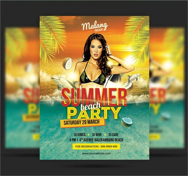 Beach Party Flyer Template - 21+ Download in Vector EPS , PSD