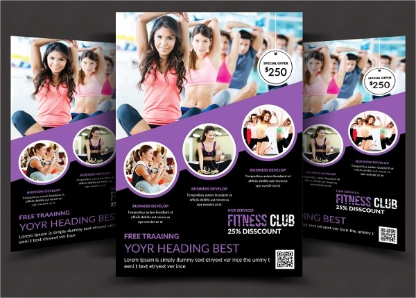 21+ Fitness Flyer Templates Sample Templates - fitness brochure template