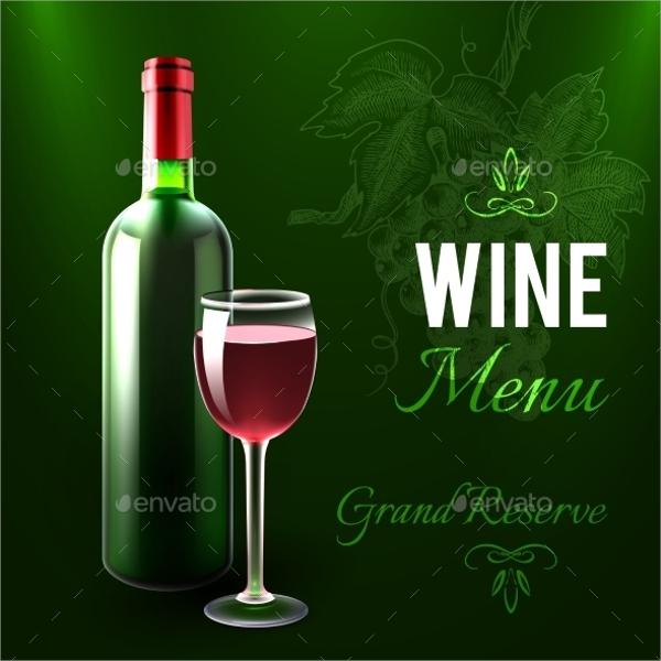 free wine menu template