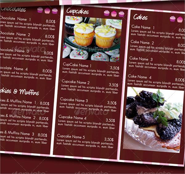 16+ Sample Bakery Menu Templates Sample Templates - a la carte menu template