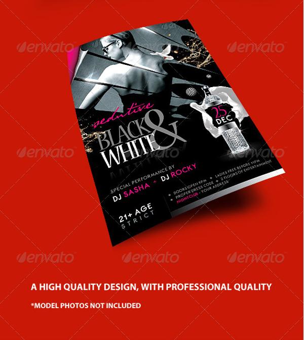 Sample Black and White Flyer adefisjuventudinternacional
