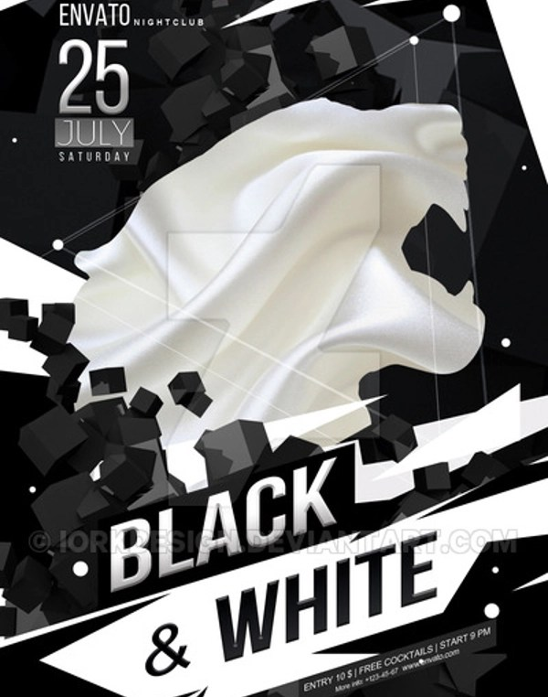 Black and White Flyer Template - 21+ Download in Vector, PSD - black and white flyer template