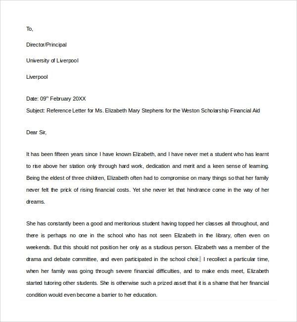 How To Write Recommendations For Bad Employees Chron Sample Financial Reference Letter Template 6 Free
