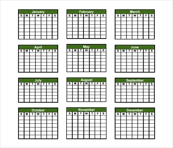 yearly calendar template hitecauto - annual calendar template