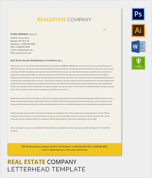 38+ Company Letterhead Templates \u2013 Free Sample, Example Format - company letterhead template