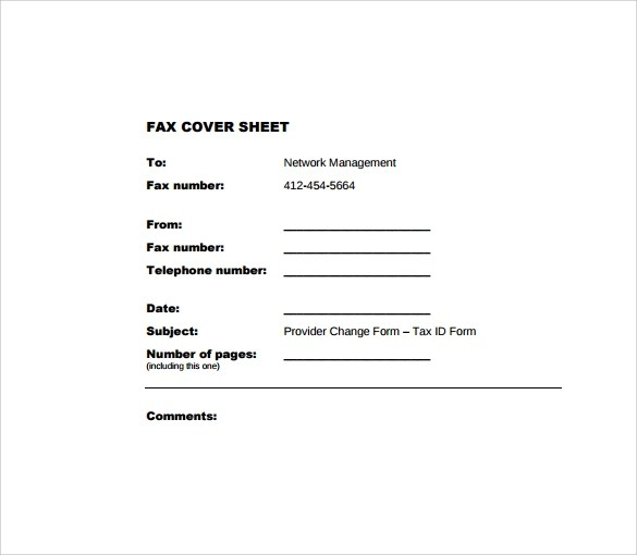 28 Fax Cover Sheet Templates Sample Templates