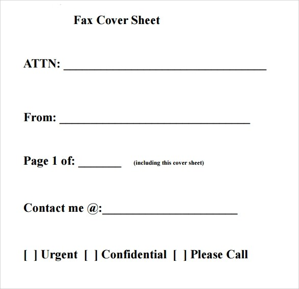 Free Fax Cover Sheet Template Download This Site Provides