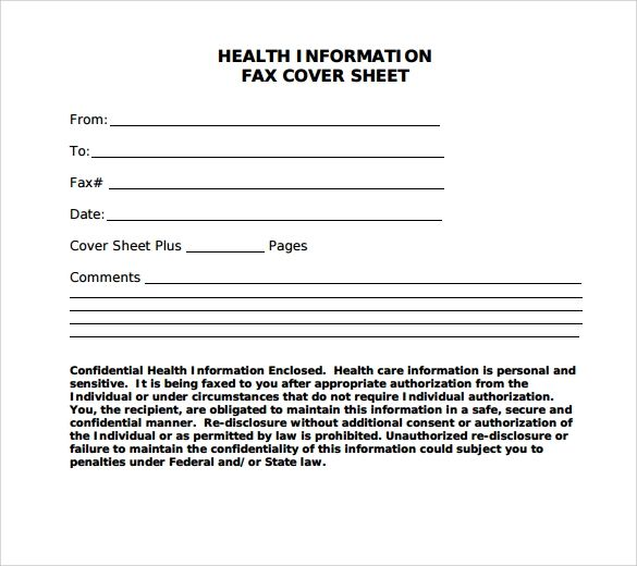 free downloadable fax cover sheet