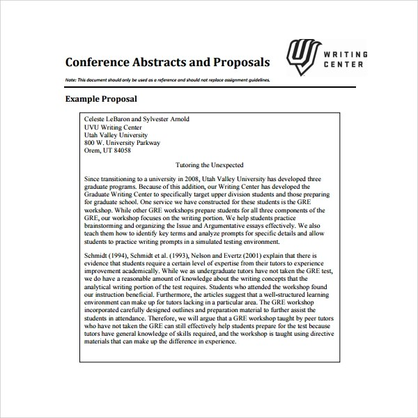 Sample Conference Proposal Template - 14+ Free Documents in PDF, Word