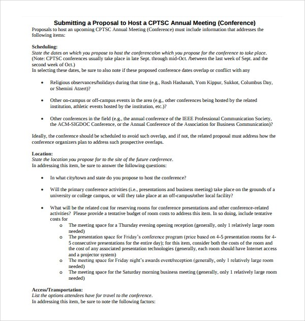 14+ Conference Proposal Templates Sample Templates - travel proposal template
