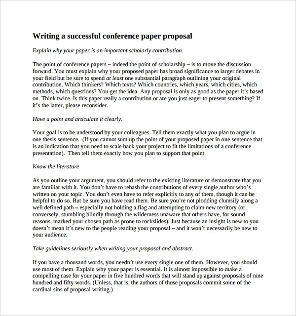 Sample Conference Proposal Template- 9+ Free Documents in PDF, Word - proposal sample