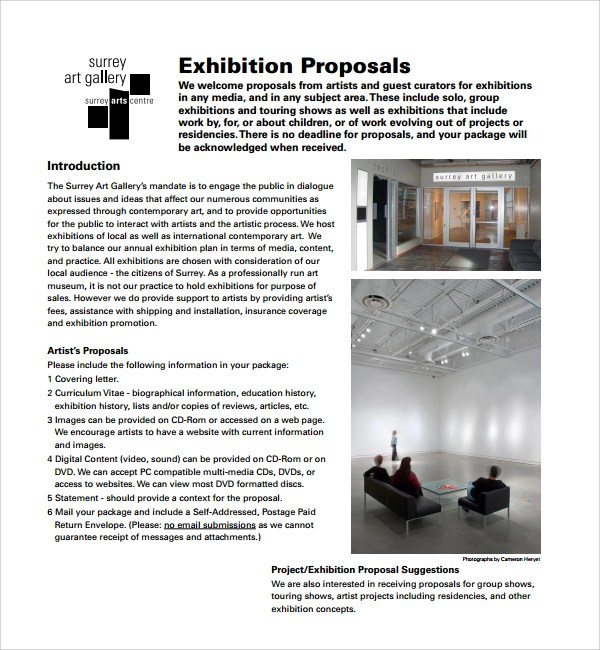 9+ Art Proposal Templates Sample Templates - sample proposal template for project