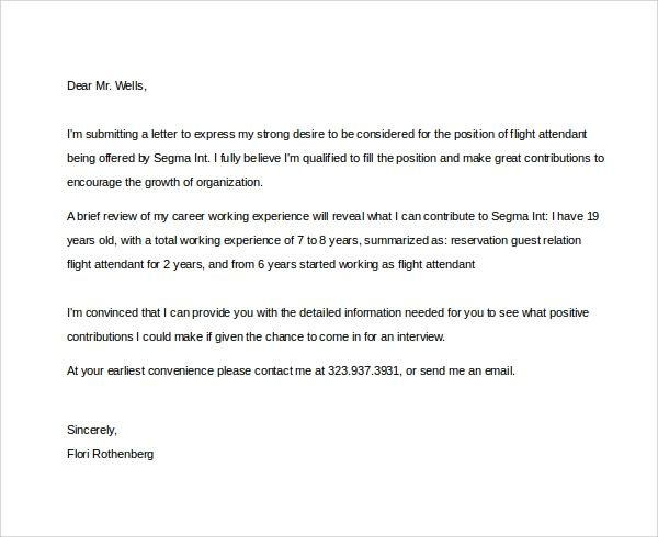 cover letter layout example about