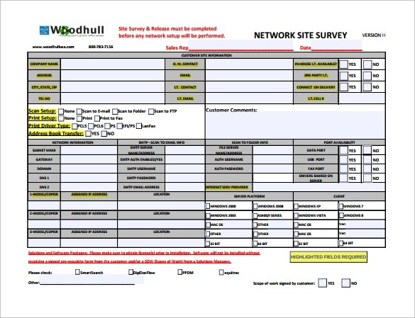 Sample Site Survey Template - 8+ Free Documents in Word, PDF - site survey template