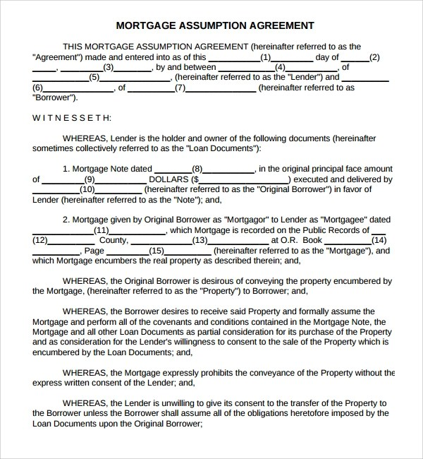 Sample Mortgage Agreement Template - 12+ Free Documents in PDF, Word