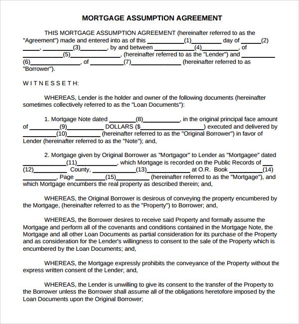 11+ Mortgage Agreement Templates Sample Templates
