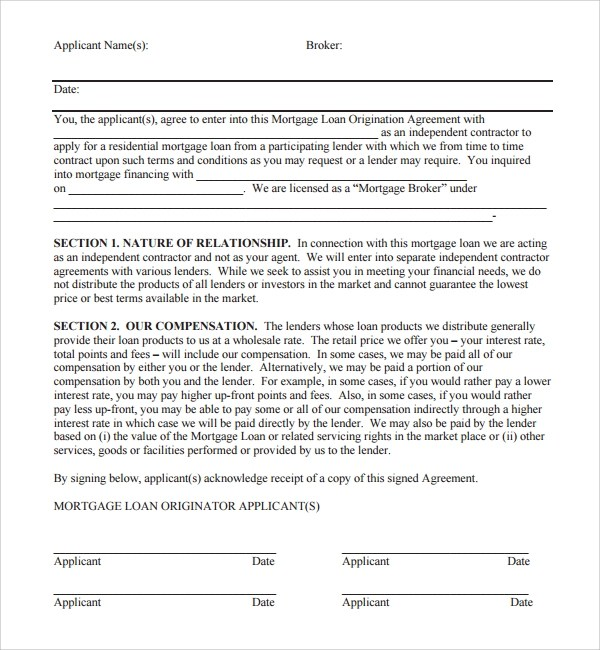 11+ Mortgage Agreement Templates Sample Templates - Loan Document Template
