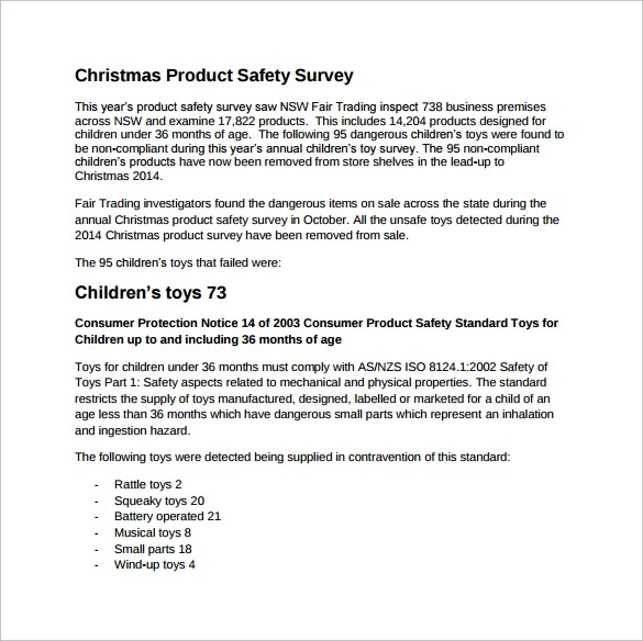 5 Product Survey Templates Download for Free Sample Templates